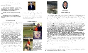 August NL Pastor's Pg & Spotlight 2014