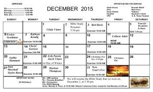 Dec.. Calendar 2015