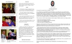 January Newsletter Pastors message