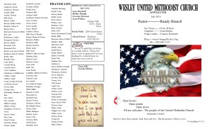 July. NL Front Pg & Prayer List 2016