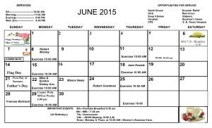 June Calendar 2015