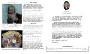 June NL Pastor's Pg & Spotlight 2014