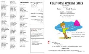 Mar. .NL Front Pg & Prayer List 2015