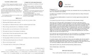 October NL Pastor's Pg & Spotlight 2014
