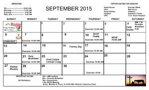 Sept. Calendar 2015