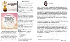 September NL Pastor's Pg & Spotlight 2014